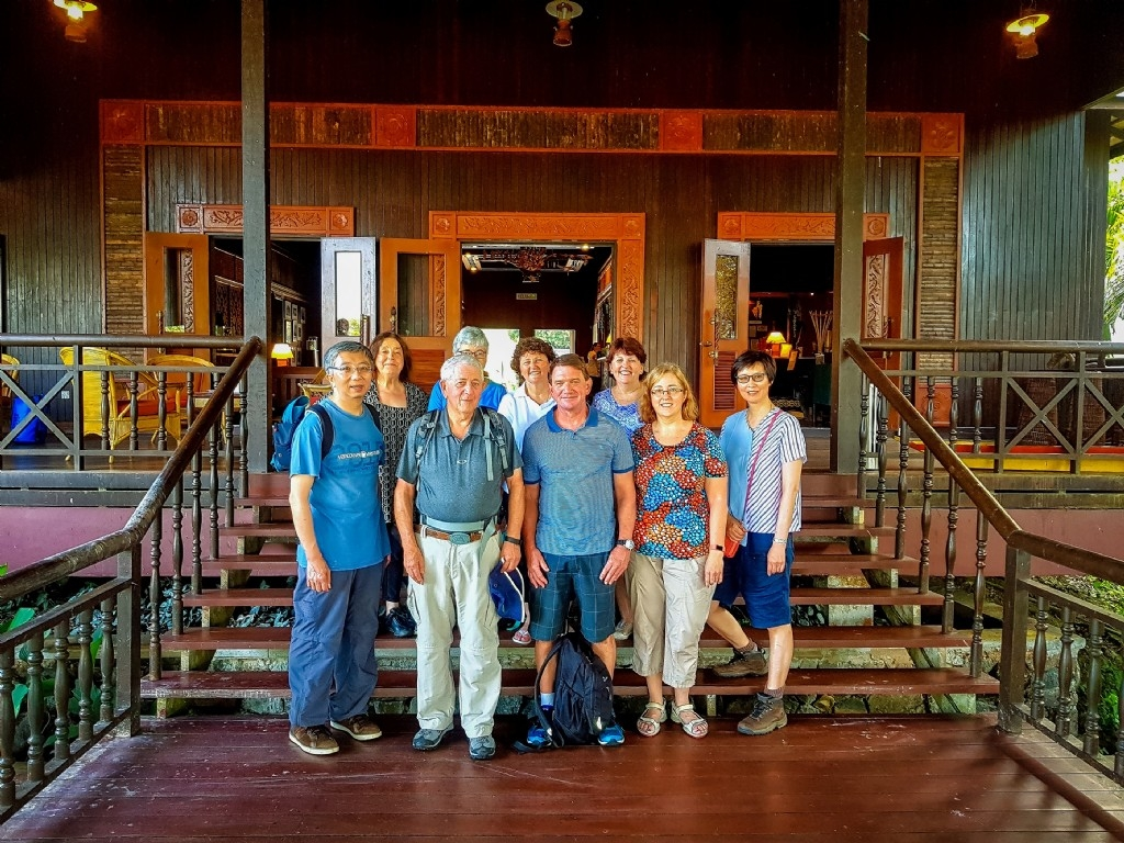 Our hotel in Batang Ai National Park on the borders of the Malaysian & Indonesian Borneo