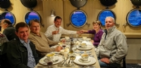 Dinner on Ventus Australis, Southern Patagonia