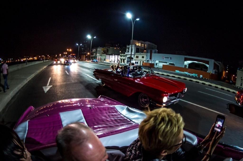 1950's American car ride to Tropicana show, Havana...photo by Ken H