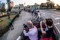 Horse & carriage ride to farewell dinner, Havana...photo by Ken H