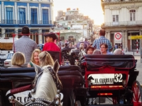 Horse & carriage ride to farewell dinner, Havana