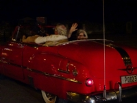 1950's American car ride to Tropicana show, Havana