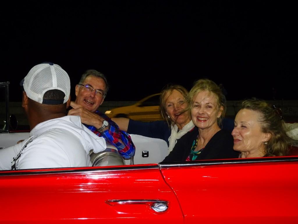 1950's American car ride to Tropicana show, Havana