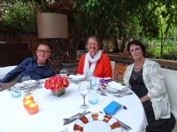 Our farewell dinner at Dar Rhizlane, Marrakech