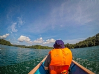 Longboat ride to visit an Iban tribe, Batang Ai National Park