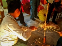 Umbrella workshop, Inle Lake