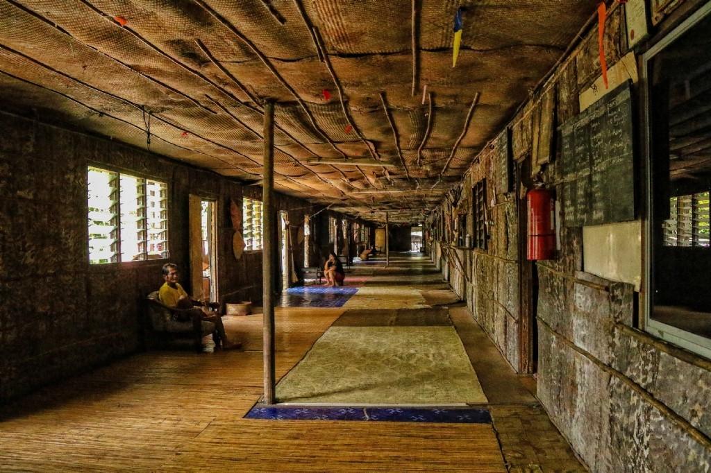 Iban tribe longhouse, Batang Ai National Park