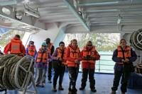 Getting ready to disembark for Pia Glacier excursion