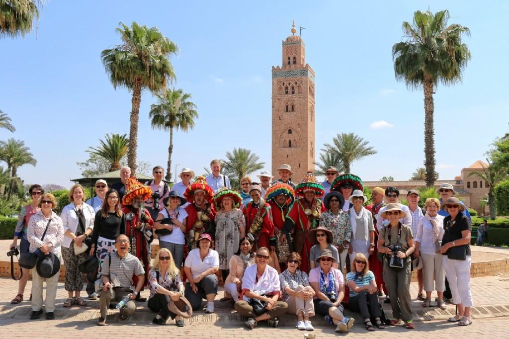 Our Moroccan group - Marrakech