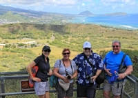 Delegates taking in the view from the top of Diamond Head Crater