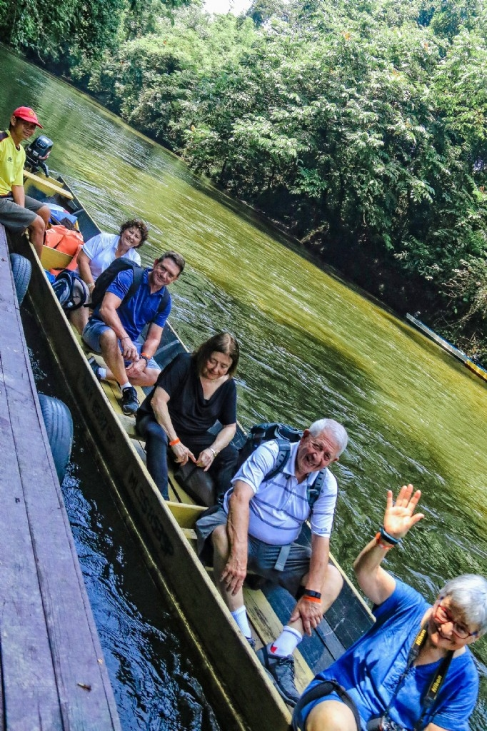 Longboating in Mulu National Park