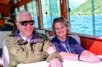 Cruising on Lake Lugano, Switzerland