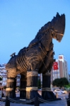 Trojan horse from movie Troy, Canakkale