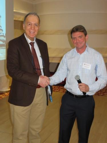 Dr Peter Grant & Dr Aktan, Turkish Medical Assoc