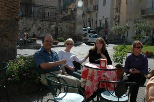 Enjoying a Sicilian lunch