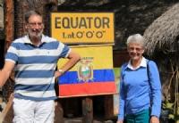 Standing on Equator, Ecuador