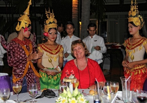 Happy birthday! Conference gala dinner, Siem Reap