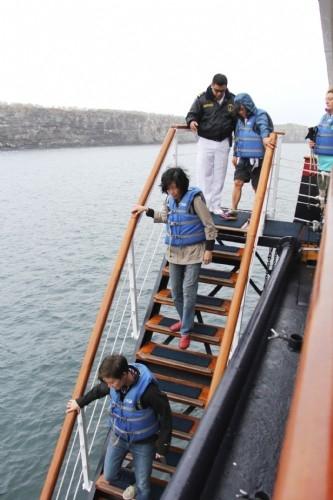Boarding the panga, Galapagos Is