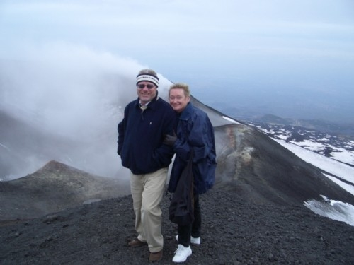 Top of Mt Etna