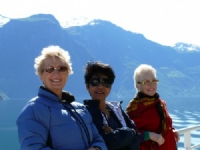The ladies enjoying Norwegian fjords