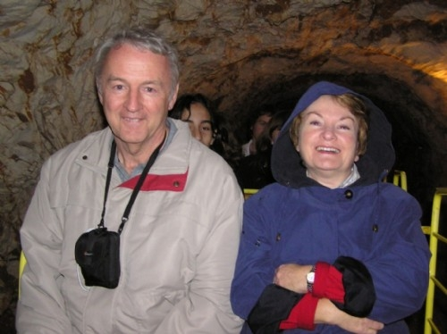 Inside Postonja Caves