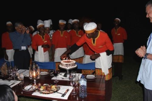 Delegate birthday celebration African style