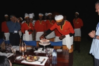 Delegate birthday celebration African style