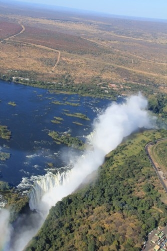 Helicopter ride over Victoria Falls
